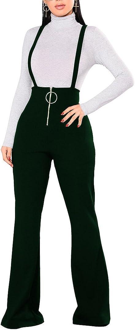 Remelon Womens Sleeveless High Waisted Bell depot Pants S Zipper Direct store Front