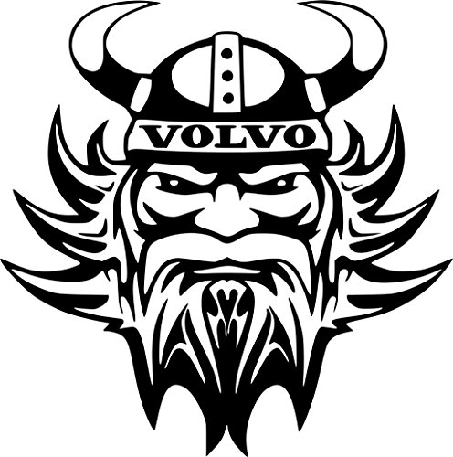 Volvo Vikingerkopf Aufkleber Autoaufkleber Sticker Auto`+ Bonus Testaufkleber