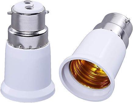 Shafiretm B22 To E27 Bulb Convertor - 2 Pieces - Colour -White