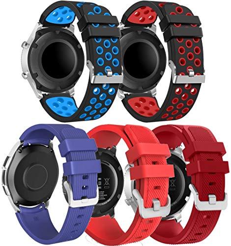 Chainfo Correa de Reloj Reemplazo 22mm, la Correa de Reloj Watch Band Accessorios (22mm, 5PCS B)