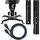 Cheetah Mounts APMEB Universal Projector Ceiling Mount Includes a 27'...