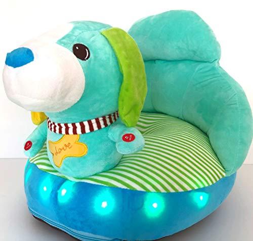 Royal Kids LED Light Toddler and Infant Plush Lazy Sofa Chair (Blue Dog)
