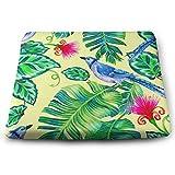 Houity Kissen, tropischer Druck mit Vögeln mit Palmen und exotischen Blumen, 100% Polyester,...