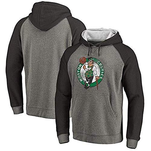 HHUPII Sudadera Con Capucha De La NBA Camiseta Con Capucha De Boston Celtics Sudadera Con Capucha De Baloncesto Cómoda Camiseta Deportiva (Color : Gray1, Size : 3XL)