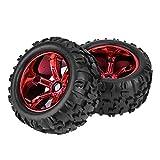 Qiterr 【𝐏𝐚𝐬𝐜𝐮𝐚】 Neumáticos de Coche RC, 8477 Cubos de Rueda Neumáticos de...