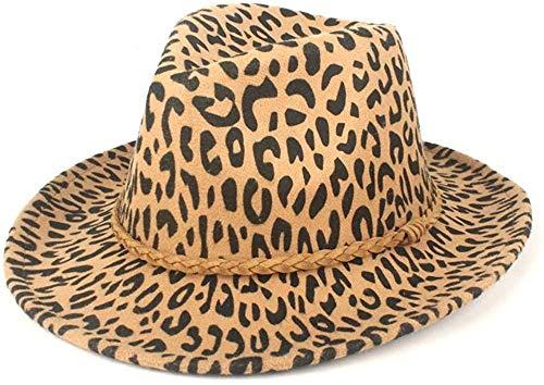 Sombreros de Fieltro Sombreros de Copa Sombrero de Mujer Otoño Invierno Panamá Sombrero de Hombre Sombrero Fedora Sombrero de Lana Poliéster Cuero Cuerda Tejido Gorras-6 7/8-7 1/8_Caqui Uptodat
