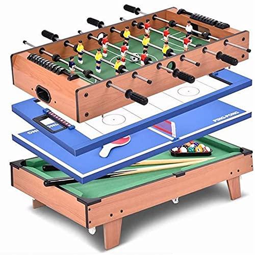 WGLL 4 en 1 conjunto de mesa de múltiples juegos,mesa de foosball de mesa mesa de hockey de mesa de hockey mesa ping pong mesa con todo el accesorio,mini mesa de fútbol juego de fútbol juego juguete j