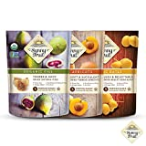 ORGANIC Dried Fruit Assortment - Sunny Fruit Dates, Figs & Apricots (3 Bags) - (5) 1.76oz Portion Packs per Bag - NO Added Sugars, Sulfurs or Preservatives | NON-GMO, VEGAN & HALAL