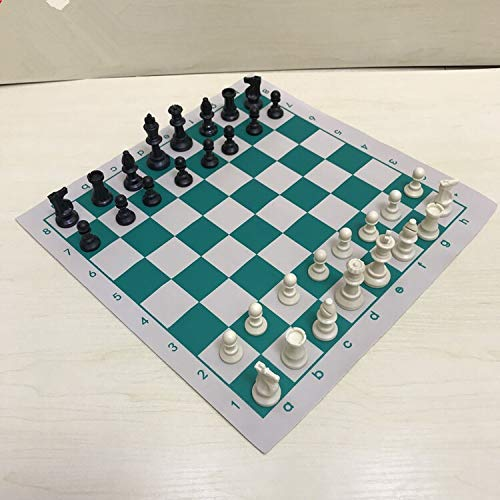 Juego de Damas 34.5x34.5cm / 42x42cm Tablero de ajedrez Educativo de Torneo de Cuero de PVC para Juegos educativos para niños Juego de ajedrez (Color: 42)