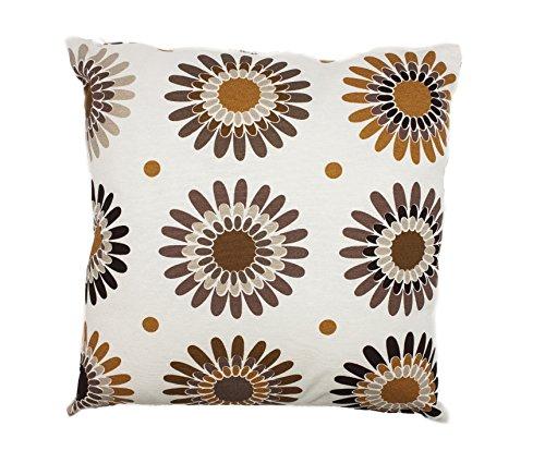 Rioma Loneta Creedence - Cojín, 45 x 45 cm, color marrón