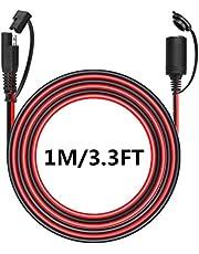 Aimofox SAE do motocykla zapalniczki samochodowej żeńskie gniazdo złącze 2-pinowe szybkie odłączenie przedłużacz kabel 12-24 V ładowarka do baterii kabel zasilający