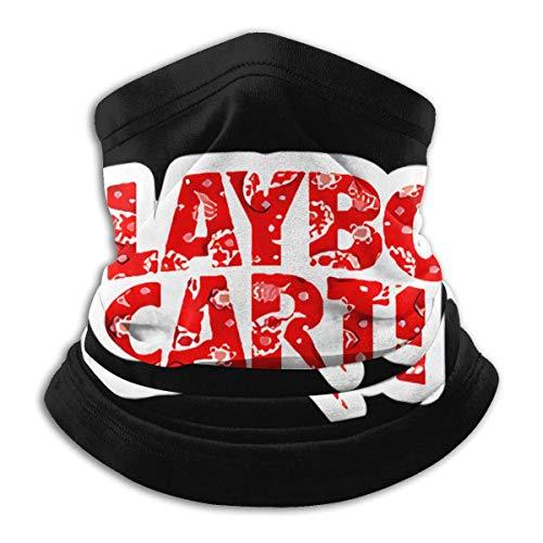 GUPENG Playboi Carti-Logo Cara Ma-sk Multifuncional Snood Outdoor Calentador Bufanda Cuello para Hombres y Mujeres Negro