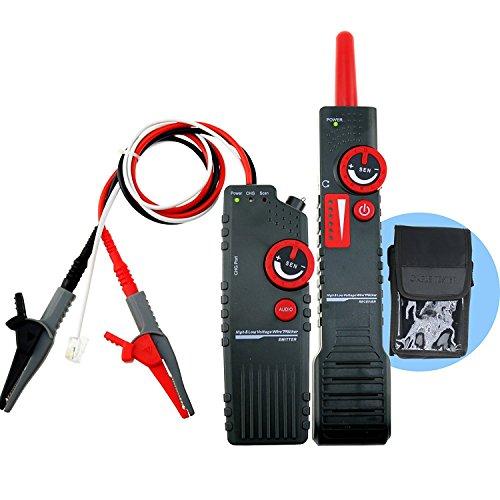 Kabel-Tracker-Detektor-Tester für AC 220V~400V Hoch- und Niederspannung, Klemmschutz, Kabelortung mit Alligator-Clip, Koax-BNC-Telefon RJ11-Netzwerk RJ45-Kabel, mehradrige Metallleitung