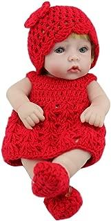 bromrefulgenc Reborn Baby Doll,Lifelike Realistic Newborn Baby,Simulation Newborn Baby Silicone Reborn Doll Bathing Sleeping Toy Kids Gift - Red