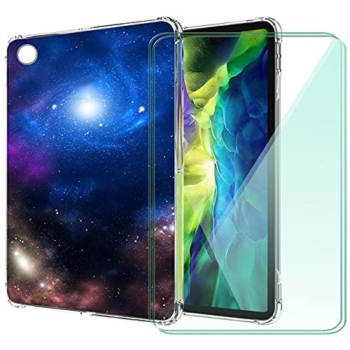 WANCJX Transparente Tablet Funda Compatible para Lenovo Tab M10 HD 2nd Gen (10.10 Pulgada) Carcasa + [2 Pieza] Cristal Templado Film,Antigolpes Caso Cover,HD Cristal Templado Membrana-JX12