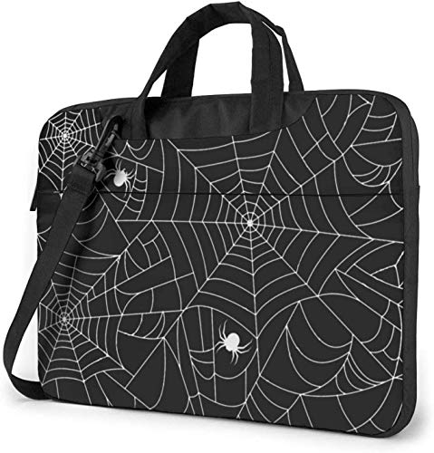 Black Spider Web Laptop Bag Shockproof Briefcase Shoulder Bags Carrying Case Laptop 15.6 inch