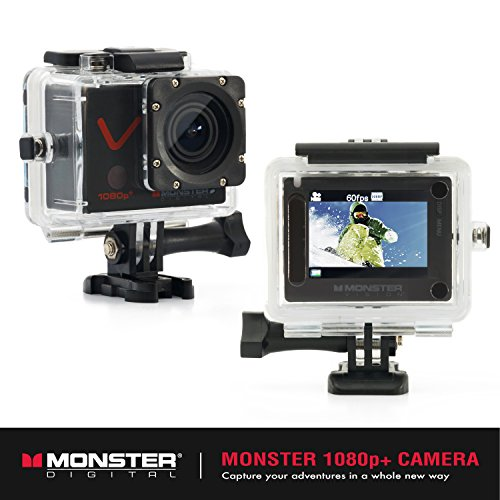 Monster Vision 1080p+ 60fps Sports Action Camera Kit [Ready to Record] 16GB MicroSD and (15) Accessories Included, 2-inch LCD Screen, 170 Wide Angle Lens [CAMVP-1080-A]