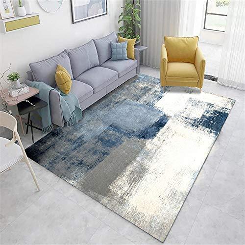 alfombras de habitacion juvenil Azul Alfombra de estar alfombra azul borroso vintage patrón viejo con rumor anti-mita alfombra silla gaming 160X140CM alfombra carretera infantil 5ft 3''X4ft 7.1''