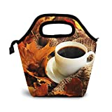 Bolsa Térmica Comida Bolsas De Almuerzo para Mujeres Hombres Niñas Niños Bolsa Isotérmica De Almuerzo Taza de café caliente
