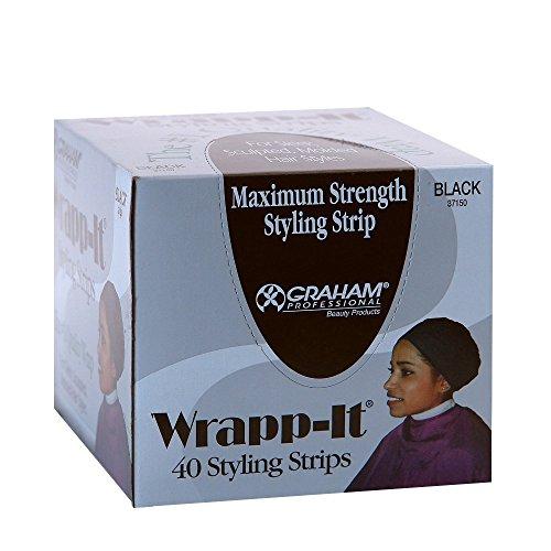 Graham Professional Beauty Wrapp-It Black Styling Strips