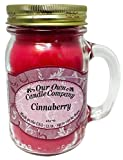 Our Own Candle Company Cinnaberry Scented 13 Ounce Mason Jar Candle