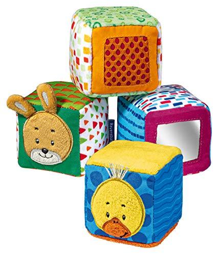 Ravensburger ministeps 4161 Spiel-Würfel, 4 bunte Stapelwürfel mit Spieleffekten, Baby Spielzeug ab 9 Monaten