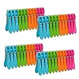 24 / 48pcs Pinzas Pinzas Lavandería Ropa Pasas Pegas Colgantes Clips Perchas de plástico Racks Ropa Pegs Inicio Almacenamiento Ganchos Toalla Clips FZHJBLP (Color : 48PC)