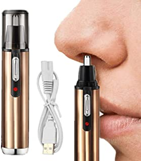 Neushaartrimmer, elektrische USB-oplaadbare neus- en oortrimmer, pijnloos, wasbare roestvrijstalen messen, 360 graden rota...
