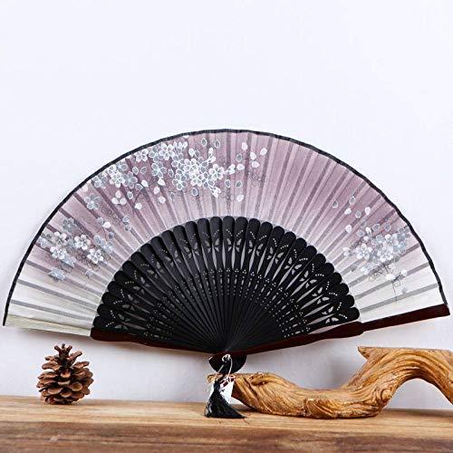 Handfächer,Von Hand Klappbare Ventilator, Chinesischen Pearl Silk Silk Ventilator Falten...