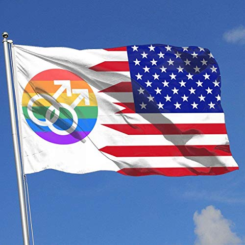 Oaqueen Flagge/Fahne Gay Pride Icon Breeze Flag 3 X 5-100% Polyester Single Layer Translucent Flags 90 X 150CM - Banner 3' X 5' Ft