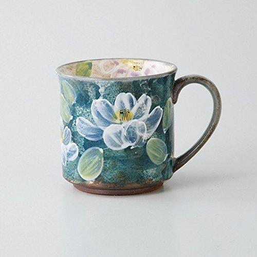 Saikai Pottery Hasami-yaki - Taza de cerámica con diseño de Flores Azules de Japón 72605