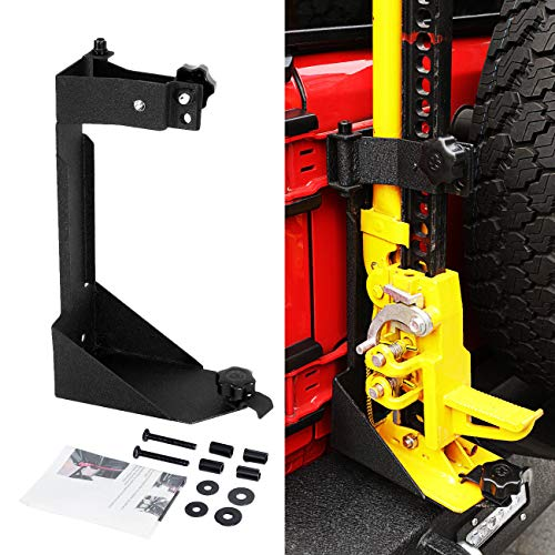 ALAVENTE Off-Road High Lift Jack Mount Spacer Bracket Rear High Lift Mounting Kit for Jeep Wrangler JK 2007-2018 (Not for JL)