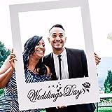 Weddecor Mariages Jour Photomaton Personnalisé Selfie Cadre Fête Cadeaux pour Mariage,Anniversaire,Celebrations,Fête Décoration 48 x 68cm