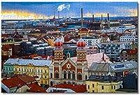 大人のためのチェコのピルゼンジグソーパズル子供子供1000ピースギフトのための木製パズルゲーム家の装飾特別な旅行のお土産