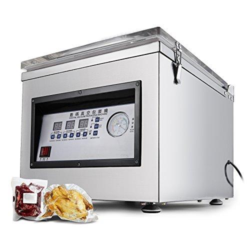 VEVOR DZ-260C Vakuumierer Maschine 300W 1.8L pro Stunde Edelstahl Beutel Sealer 320 MM 12,6 ZOLL Vakuumierer Beutel für Heim und Gewerbe