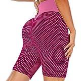 Dazzerake Mallas de correr para entrenamiento, pantalones deportivos de yoga ajustados de cintura alta elástica para mujer Rosado. XL