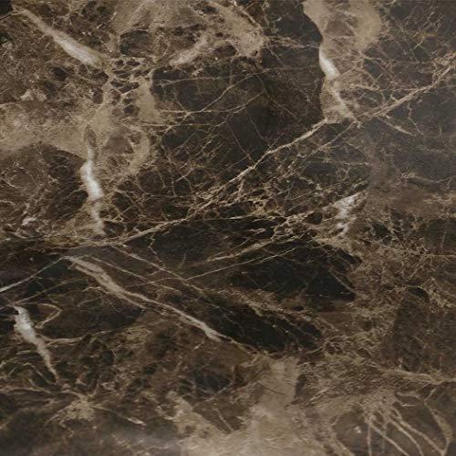 EZ FAUX DECOR Countertop Paint? No Marble Peel Stick Contact Paper Dark Emperador Vinyl Film 36