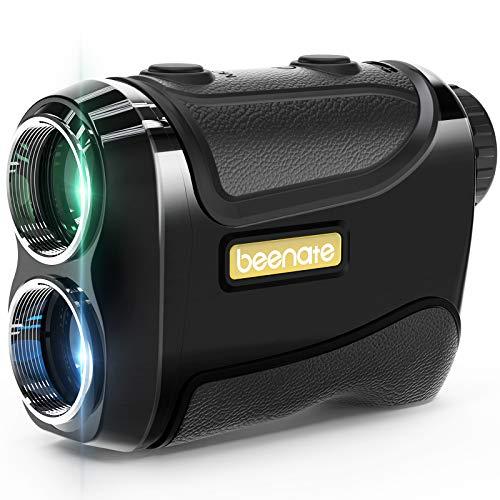 Beenate Golf Rangefinder, Range Finder with Slope On/Off, Flag-Lock Vibration, 650 Yards Range, 6X Magnification - Laser Rangefinder Includes Battery & Carrying Pouch