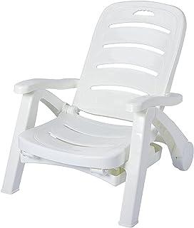 Plastikowy fotel na zewnątrz do basenu Strona główna Użytkowanie, Krzesło Naustne Outdoor Patio Składane Rozrywka Leisure ...