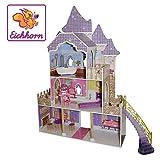 Eichhorn Großes Puppenhaus, Puppen-Villa passend für 29 cm Puppen, inklusive Möbel, Unmontiert,...