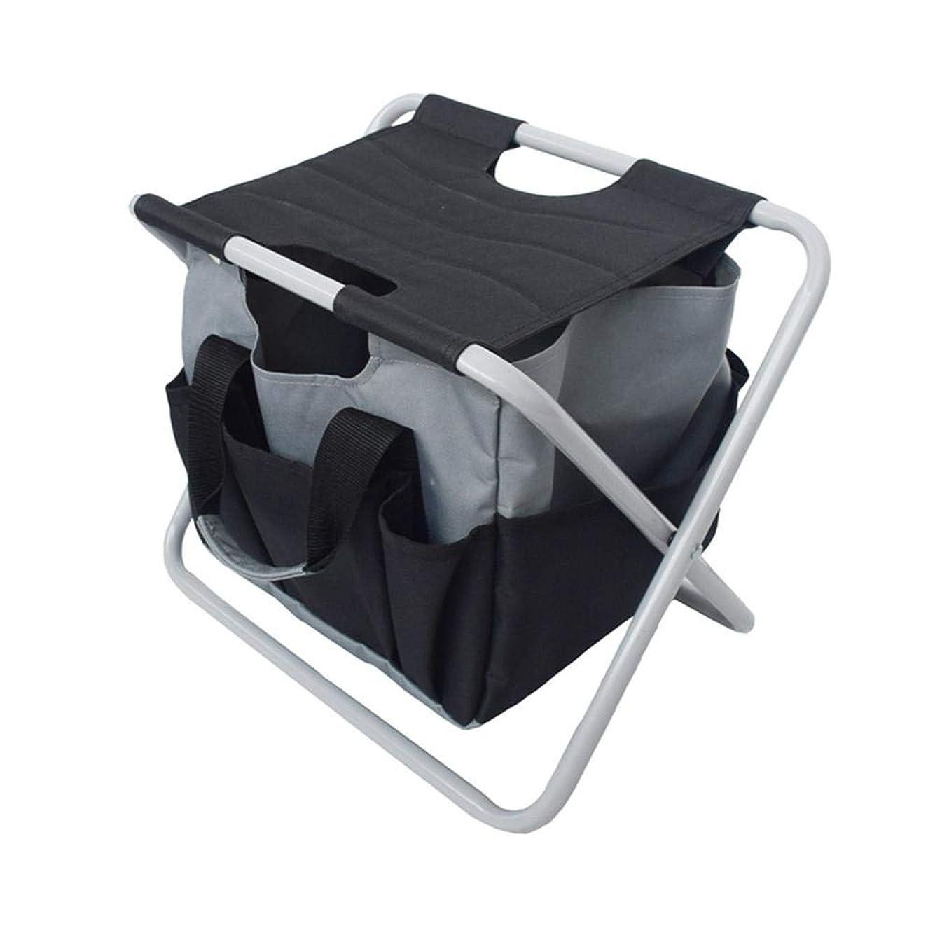 こっそり訪問ことわざポータブル折りたたみスツール 収納袋付き 多機能ポータブルキャンプ折りたたみスツール ガーデンツール 折りたたみ椅子 釣りスツール ビーチチェア 超軽量パッド入りバックパック ピクニック 頑丈なキャンプ 釣り