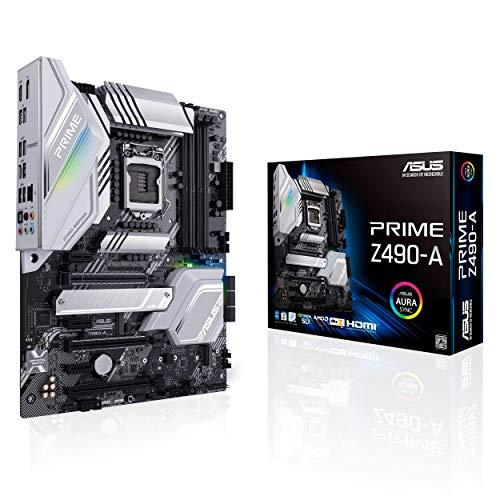 ASUS Prime Z490-A Gaming Mainboard Socken 1200 (ATX, Intel Z490, AI Overclocking, USB 3.2 Gen 2 Typ-C, Thunderbolt-3, M.2-Kühlkörper, Aura Sync)