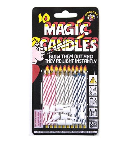 JOKE: MAGIC CANDLES PACK OF 10