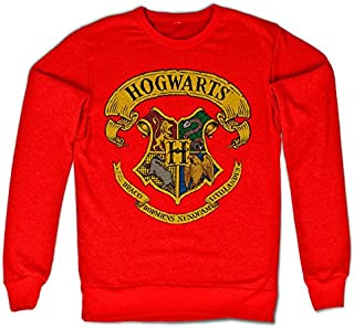 Officially Licensed Inked Harry Potter - Hogwarts Crest Sweatshirt (Red)