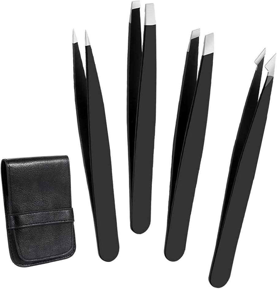 Precision Eyebrow Tweezers free shipping 4 Courier shipping free shipping Pack Steel Stainless Slant Tweezer
