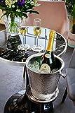 EDZARD Sektkühler Edelstahl Capri mit Ständer, Gesamthöhe 85 cm, Höhe des Sekt-Kühlers 23 cm (perfekt als Weinkühler, Champagner-Kühler) - 4