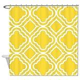 rioengnakg Gelbe dekorative Duschvorhang, #1, 72