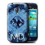 eSwish Personnalisé Tissu Tie-Dye Motifs Personnalisé Coque pour Samsung Galaxy S3 Mini/Nuage Encre Bleu Marine Design/Initiales/Nom/Texte Etui/Housse/Case