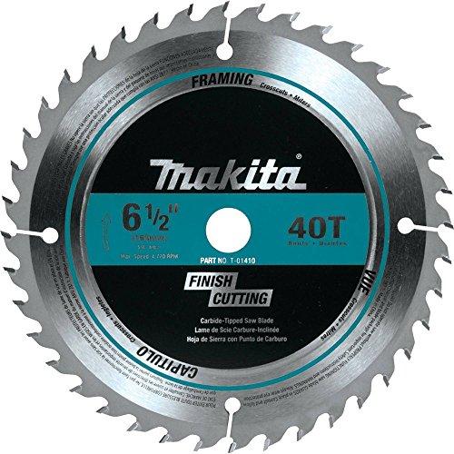 Makita T-01410 40T Fine Crosscutting Carbide-Tipped Saw Blade, 6-1/2