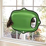 K&H Pet Products EZ Mount Window Pod Kitty Sill Green 27 X 20 Inches
